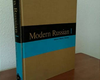 Russian Language Textbook,  Modern Russian 1, Vintage 1964 Russian Language Book