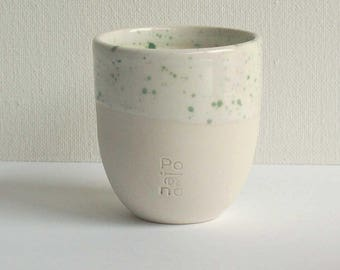 Speckled coffee cup