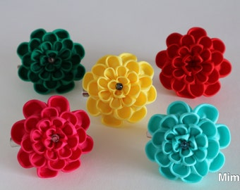 Hair accessories brooch knobs work