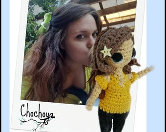 Mini doll custom crochet inspiration manga (11-12cm)