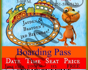CUSTOMIZED Dinosaur Train Invitation