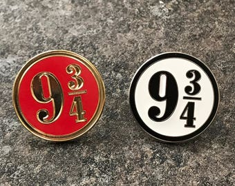 Platform Nine and Three Quarters 9 3/4 Enamel Pin Badge | Harry Potter