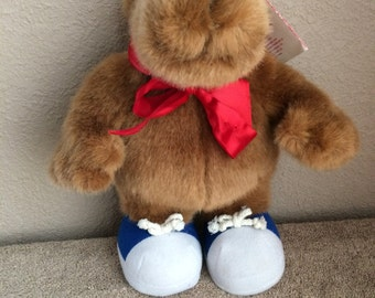 My favorite Company, Inc, Bear plush Let's Talk Chocolate, vintage 1997, used with tag
