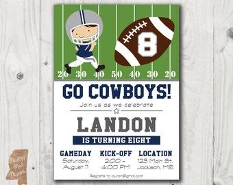 Dallas Cowboys Birthday Invitation 2