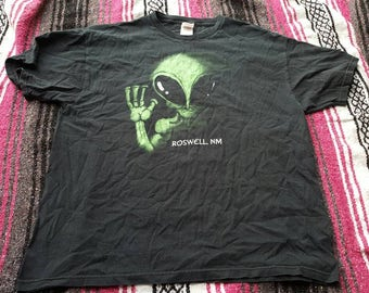 Vintage 90's Roswell New Mexico Alien Souviner Tshirt Size XL
