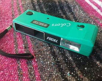 Focal Color 110mm Film Pocket Camera Teal UNTESTED