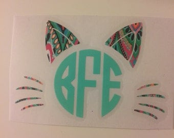 Cat Face Monogram