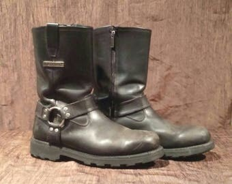 Harley Davidson motorcycle boots, size 12, free shipping