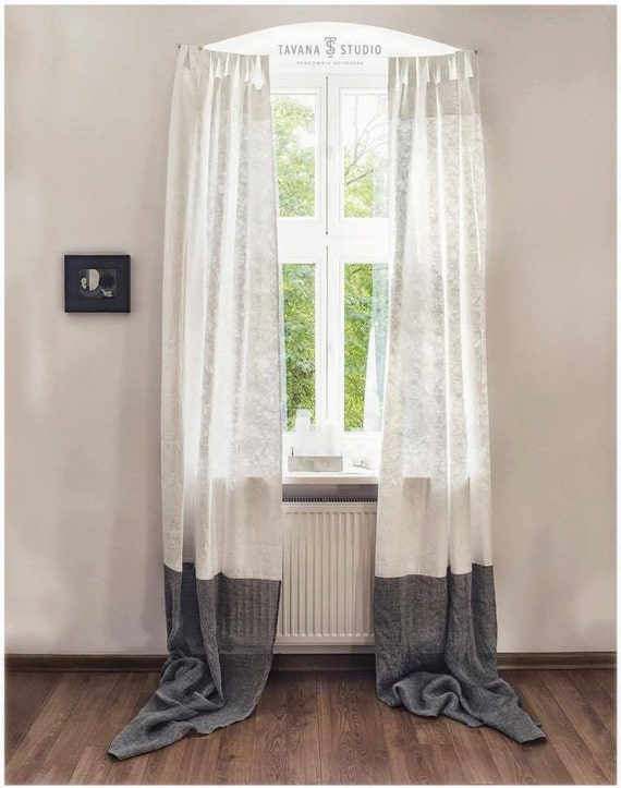 Window Curtains Made Out Of Tyvek And Transparent Black And