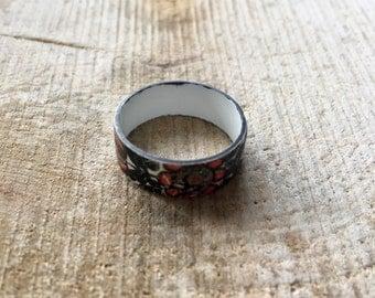 Nice vintage ge-emailleerde ring
