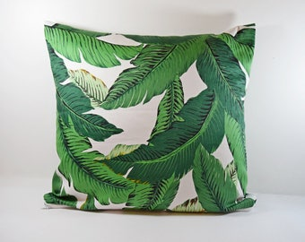 Tropical 40 x 40 or 50 x 30 - exotic plant pillow cover - personalized gift Christmas - gift for woman