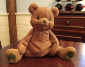 """Shamrock Teddy Bear (7"""" x 5.5"""" x 3"""")"""
