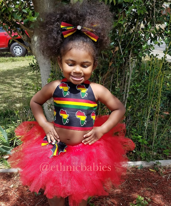 Kente Tutu African Fabric Skirt Dress Ethnic