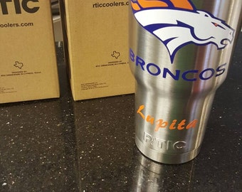3 color yeti decal Denver broncos for rtic laptop car customizable