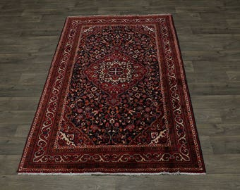 Excellent Semi Antique Handmade Gholtogh Persian Rug Oriental Area Carpet 4X7