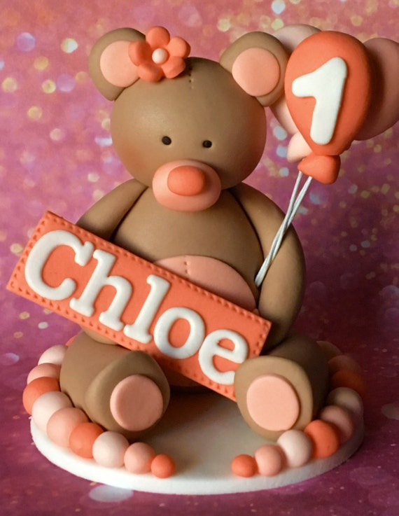 Edible 3d fondant teddy bear cake topper kids cake for 3d printer cake decoration