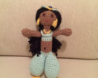 Custom Crocheted Jasmine and Aladdin Dolls