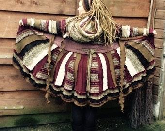 upcycled sweatercoat NORWEGIAN WOOD Katwise inspired