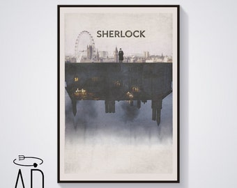 London City Print, Sherlock Holmes BBC TV Series,Vintage Style,Benedict Cumberbatch Poster,Movie Poster,Graphic Design,Musgrave,Season 4