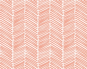 Baby Swaddle | Coral Herringbone Swaddle, Coral Blanket, Coral Swaddle, Arrows, Tribal Swaddle, Woodland Swaddle, Tribal Blanket, Baby Girl