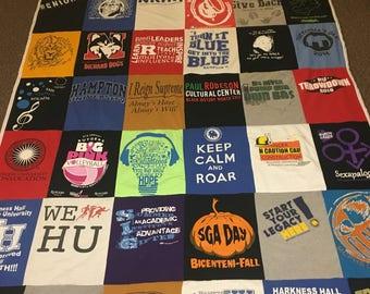 Custom t-shirt quilt 6x6