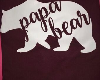 Papa bear shirt mens daddy shirt Father's Day gift