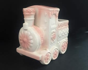 1950's Vintage Napcoware Pink & White Ceramic Nursery Planter