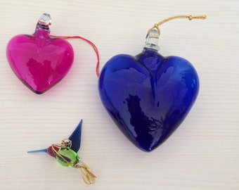 mexican blown glass heart