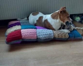 Dog pillow crochet/Dogcushion crochet
