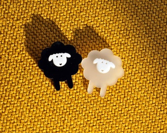 The Sheep Brooch and Collar Pins