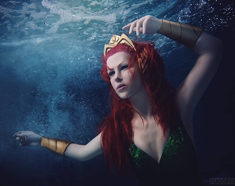 Queen Mera cosplay costume from DC comix made to order