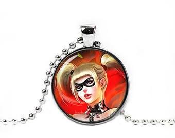 Harley Quinn Necklace Pendant Fandom Jewelry Joker Poison Ivy Cat Women Cosplay Fangirl Fanboy