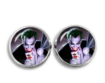 Joker Stud Earrings 12 mm Stud Earrings  Fandom Jewelry  Cosplay Fangirl Fanboy