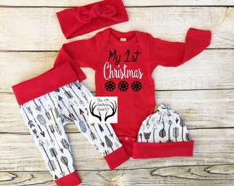Baby boy first christmas outfit | Etsy
