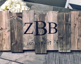 Grey Rustic Hand Painted Wood Wedding Guest Book Alternative, Rustic Wedding Guest Book, Hand Painted Sign, Wedding Guest Book Alternative