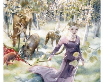 Abondance - messalyn - 30 x 40 cm print