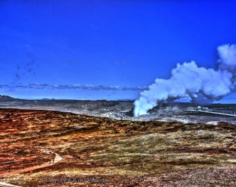 Iceland solfatar at Reykjanes