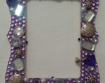 Purple and Silver Picture Frame