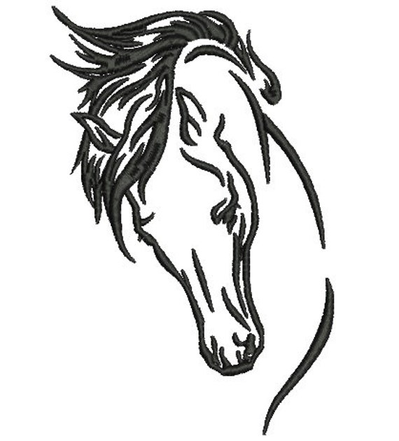 Horse Tattoo Embroidery Design Horse