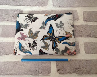 butterfly pencil case, butterfly makeup case, butterfly case, back to school, school supplies, makeup bag, butterfly lover, gift for her