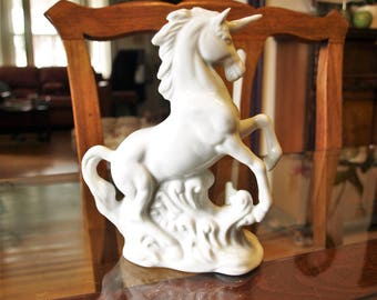 "Porcelain Unicorn – great design – 6.5"" tall"