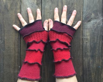 Fingerless Gloves- Made from Recycled Sweaters, Dragon Gauntlets