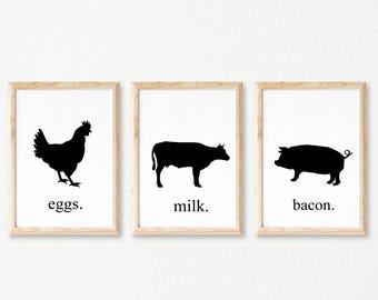 Farm House Wall Art, Farm House Decor, Farm House Printables, Kitchen Signs, Farm House Signs, Farm House Kitchen, Printable Kitchen Art