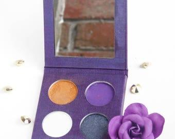 Natural Eyeshadow - Organic Eyeshadow - cruelty free eyeshadow - purple eyeshadow - gold eyeshadow -  black eyeshadow - Alz Eyeshadow -