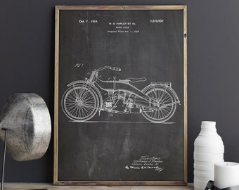 Harley Printable, Harley Poster,Harley Davidson,Harley Patent Art,Harley Decor,Harley Wall Decor,Davidson Decor,Chopper Art,INSTANT DOWNLOAD