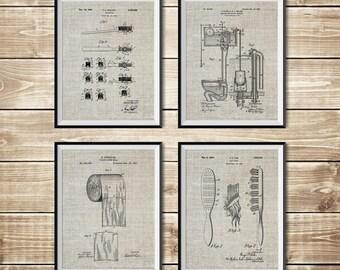 Bathroom Wall Art, Patent Print Group, Bathroom Print, Bathroom Patent, Bathroom Sign, Toilet Wall Art, Bathroom Poster, INSTANT DOWNLOAD
