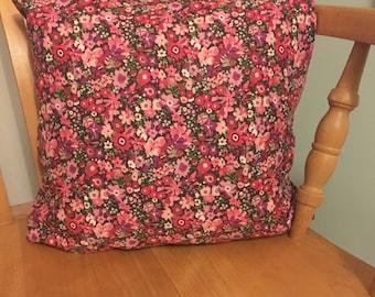 Handmade Liberty 'Tana Lawn Manuela Pink Floral' Cushion