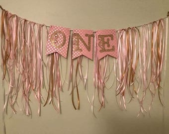 Highchair Banner First birthday