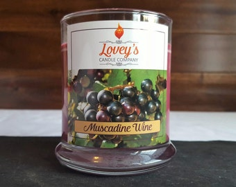 Muscadine Wine Scented Soy Candle - Fruity - Sweet - Birthday Gift - Housewarming Gift - Wedding Gift - Hand Poured Soy Candle