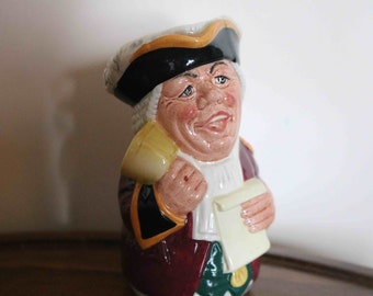 Royal Doulton Doultonville Character / Toby Jug Mr Tonsil the Town Crier D6713